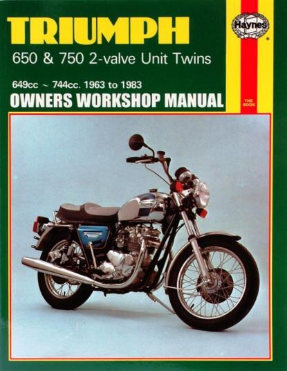 Picture of Haynes Manual 122 Triumph 650/750 UNIT TWINS