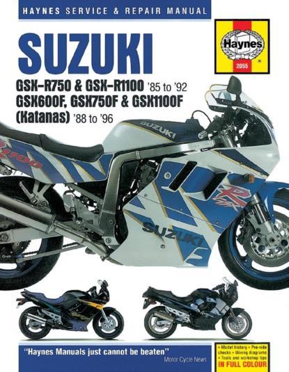 Picture of Haynes Manual 2055 SUZ GSXR750/1100,GSX600/750/1100FS/Order