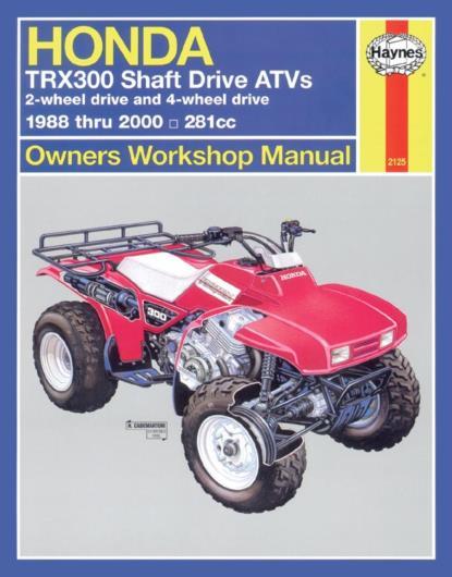 Picture of Haynes Manual 2125 HON ATV TRX300 SHAFT DRIVE 88-00