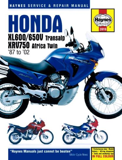 Picture of Haynes Manual  3919 HON XL600/650V & XRV750 AFRICA TWIN-SPECIAL