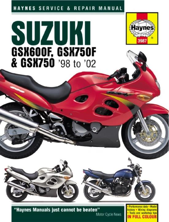 Picture of Haynes Manual  3987 SUZ GSX600F & GSX750F (98+)