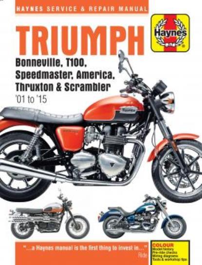 Picture of Haynes Manual  4364 Triumph Bonnie,T100,Speed,Thrux 01-12