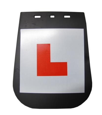 Picture of Mudflap Large with L-Plate
