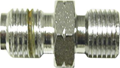 """Picture of Adaptor 10mm x 1.25mm Concave Chrome fits on to 1/8"""" Hose End (Per 5)"""