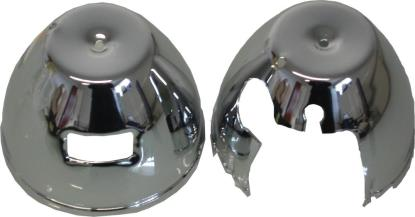Picture of Speedo & Tacho Bottom Clock Covers Chrome Kawasaki Z650, Z900 (Pair)