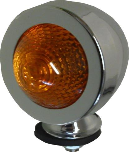 Picture of Bullet Light Chrome New Type with Amber Lens & E-Marked