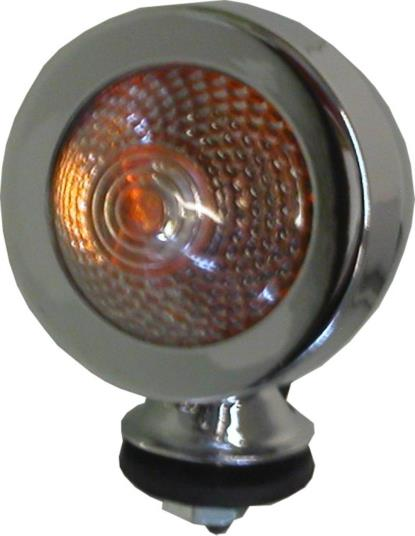 Picture of Bullet Light Chrome New Type with Clear Lens & E-Marked