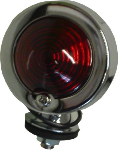 Picture of Bullet Light Chrome Orginal Type with Red Lens