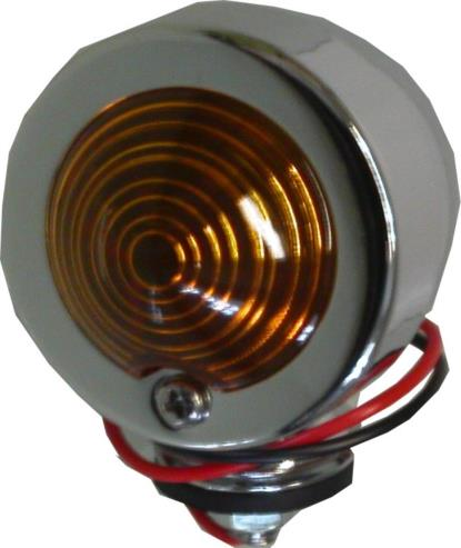 Picture of Bullet Light Chrome Orginal Type with Amber Lens