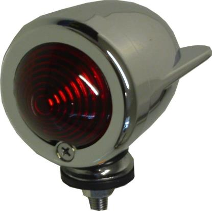 Picture of Bullet Light Chrome Winged with Red Lens
