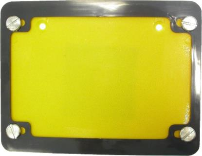 Picture of Number Plate Surround 6 Digit Black