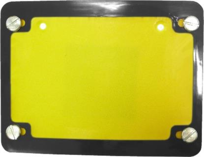 Picture of Number Plate Surround 6 Digit Chrome