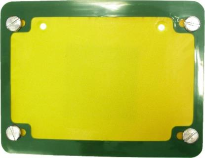 Picture of Number Plate Surround 6 Digit Green