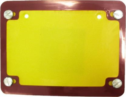 Picture of Number Plate Surround 6 Digit Red