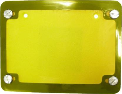 Picture of Number Plate Surround 6 Digit Gold