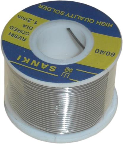 Picture of Solid Solder Wire 60/40 60% tin 40% lead alloy (250g)