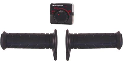 Picture of Grips Heated Black Bar End Type to fit 1'' Handlebars (Pair)