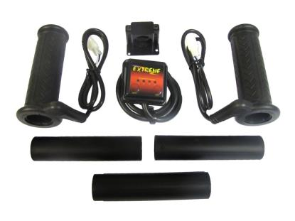 "Picture of Grips Heated Black Bar End Type to fit 7/8""& 1"" Handlebars (Pair)"