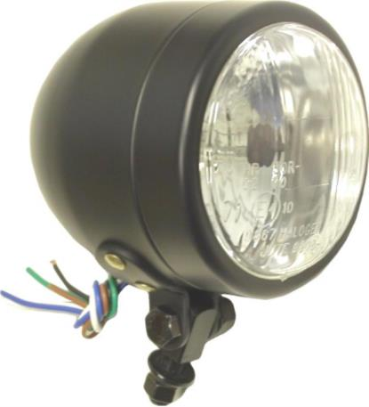 "Picture of Headlight Complete Black Bottom Mount 4.5""(E Marked)"