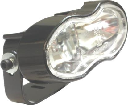 Picture of Headlight Complete Black Twin Cateye Universal Mount