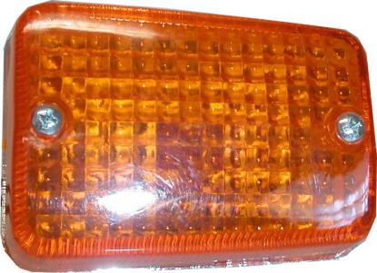 Picture of Complete Indicator Honda C50, C70, C90C Front Right Chrome(Amber)