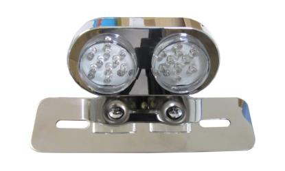 Picture of Complete Taillight Twin Round LED with clear lens(E-Marked)