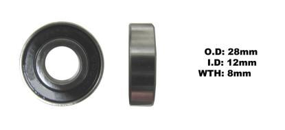 Picture of Bearing 6001DDU(I.D 12mm x O.D 28mm x W 8mm)
