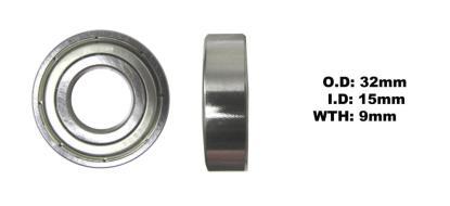 Picture of Bearing NTN 6002ZZ(I.D 15mm x O.D 32mm x W 9mm)