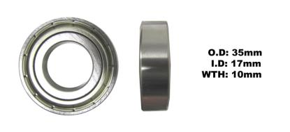 Picture of Bearing SNR 6003ZZ(I.D 17mm x O.D 35mm x W 10mm)