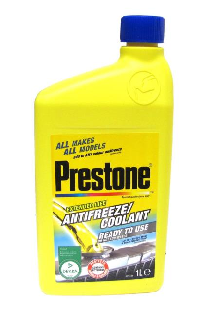 Picture of Prestone Ready To Use Coolant, Compatible With Any Colour Coolant. (1 Litre)
