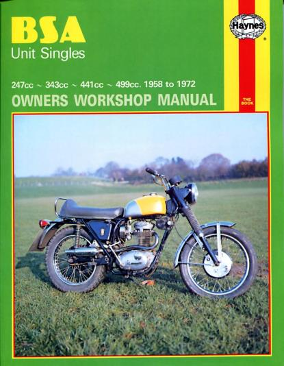 Picture of Haynes Manual 127 BSA UNIT SINGLES