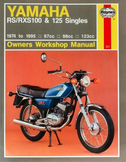 Picture of Workshop Manual Yamaha RS100 1974-1983, RXS100 1983-1995, RS125 74-84