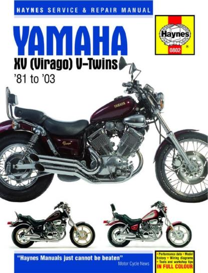 Picture of Workshop Manual Yamaha XV535, XV700, XV750, XV920, TR1, XV1000, XV1100