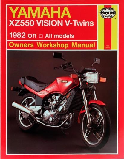 Picture of Workshop Manual Yamaha XZ550 1982-1985