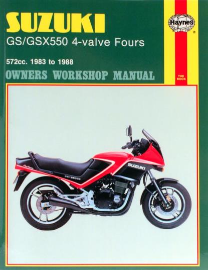 Picture of Haynes Manual 1133 SUZ GS/GSX550 4-VALVE FOURS