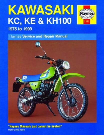 Picture of Haynes Manual 1371 KAW KC/KE/KH100-S/Order