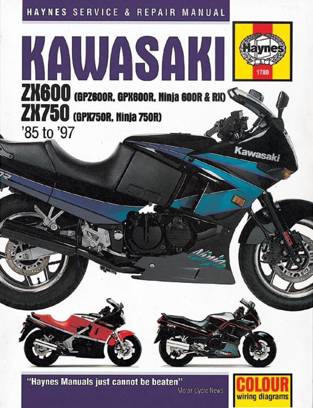 Wiring Diagram 1986 Kawasaki Ninja Zx600r Library Engine Manual Haynes For Gpz 600 R Zx600a2