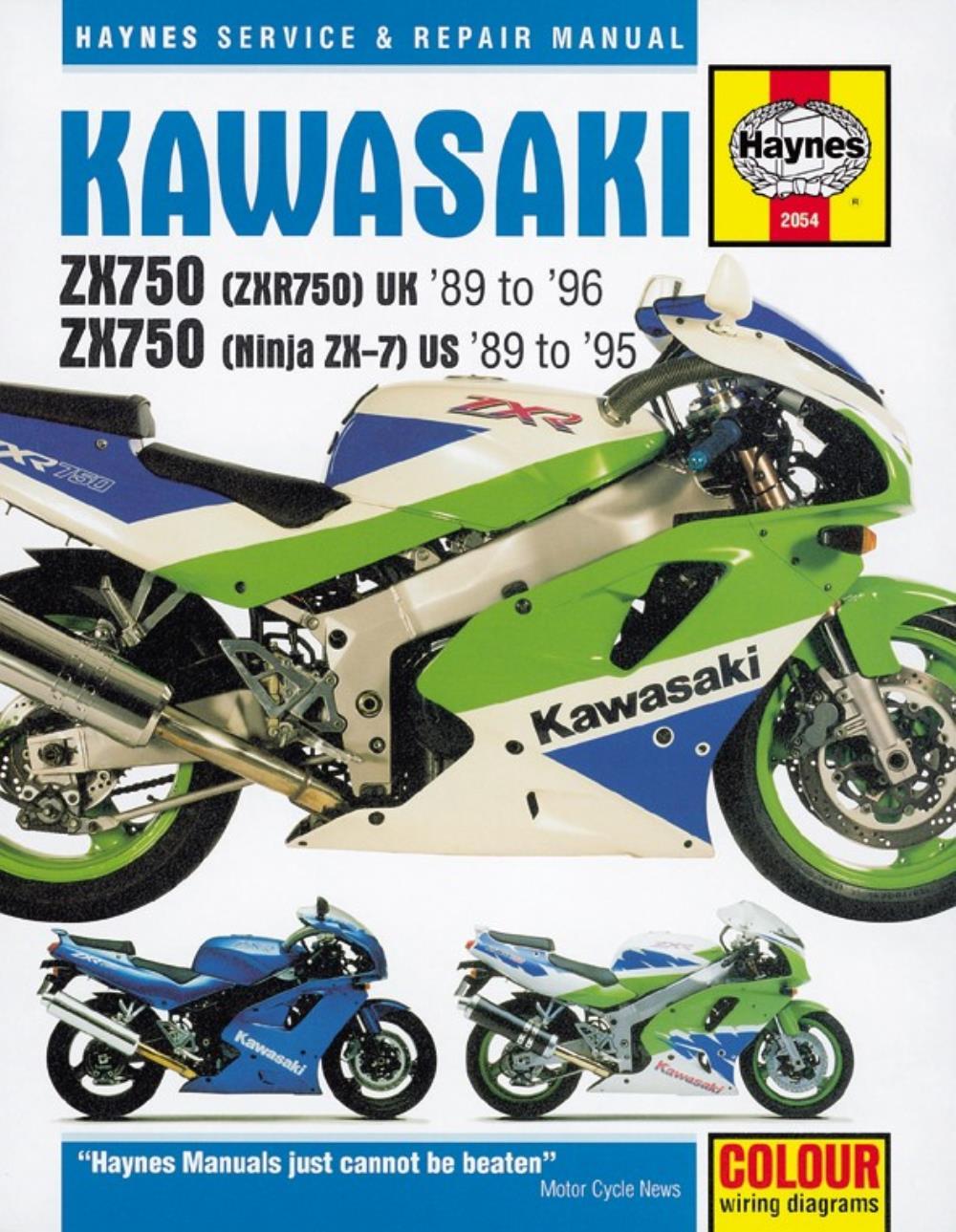 Manual Haynes For 1994 Kawasaki Zxr 750 L Zx750l2 Ebay 1996 1100 Ninja Wiring Diagram Description