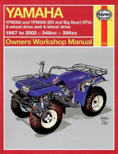 Picture of Haynes Manual 2126 YAM ATV YFM350 & YFM400 (ER AND BIG BEAR) 87-09