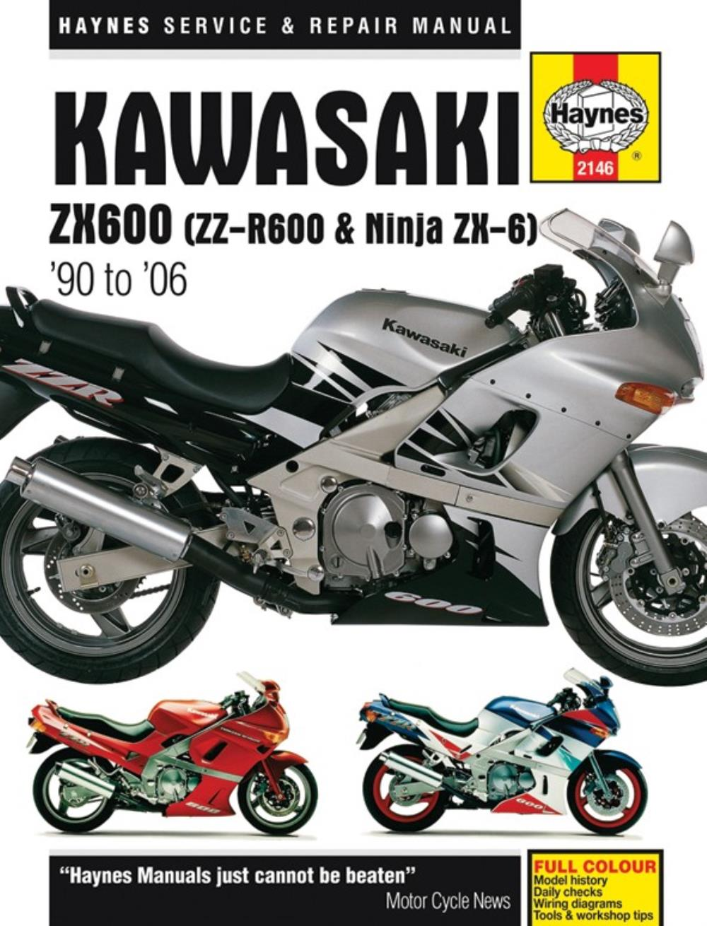 1992 Kawasaki 600 Wiring Diagram Electrical Diagrams Manual Haynes For Zzr Zx600d3 Ebay Prairie 360 Parts