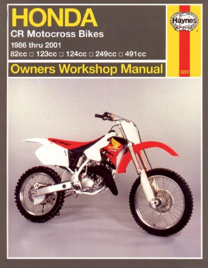 Picture of Haynes Manual 2222 HON CR80/125/250500R 86-07
