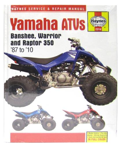 Picture of Workshop Manual Yamaha YFZ350 Warrior, YFM350X Banshee 87-10