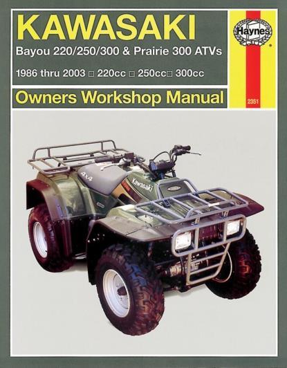 Picture of Haynes Manual 2351 KAW ATV BAYOU220/250/300/ PRAIRIE 300 86-11-S/Order.