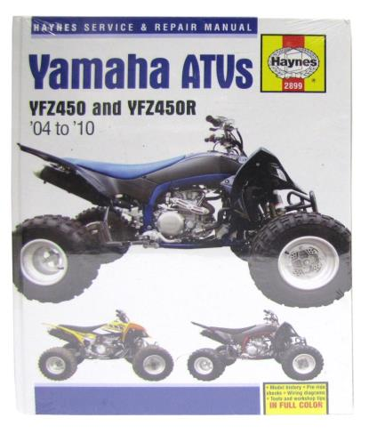 Picture of Workshop Manual Yamaha YZF450, YZF450R 2004-2010