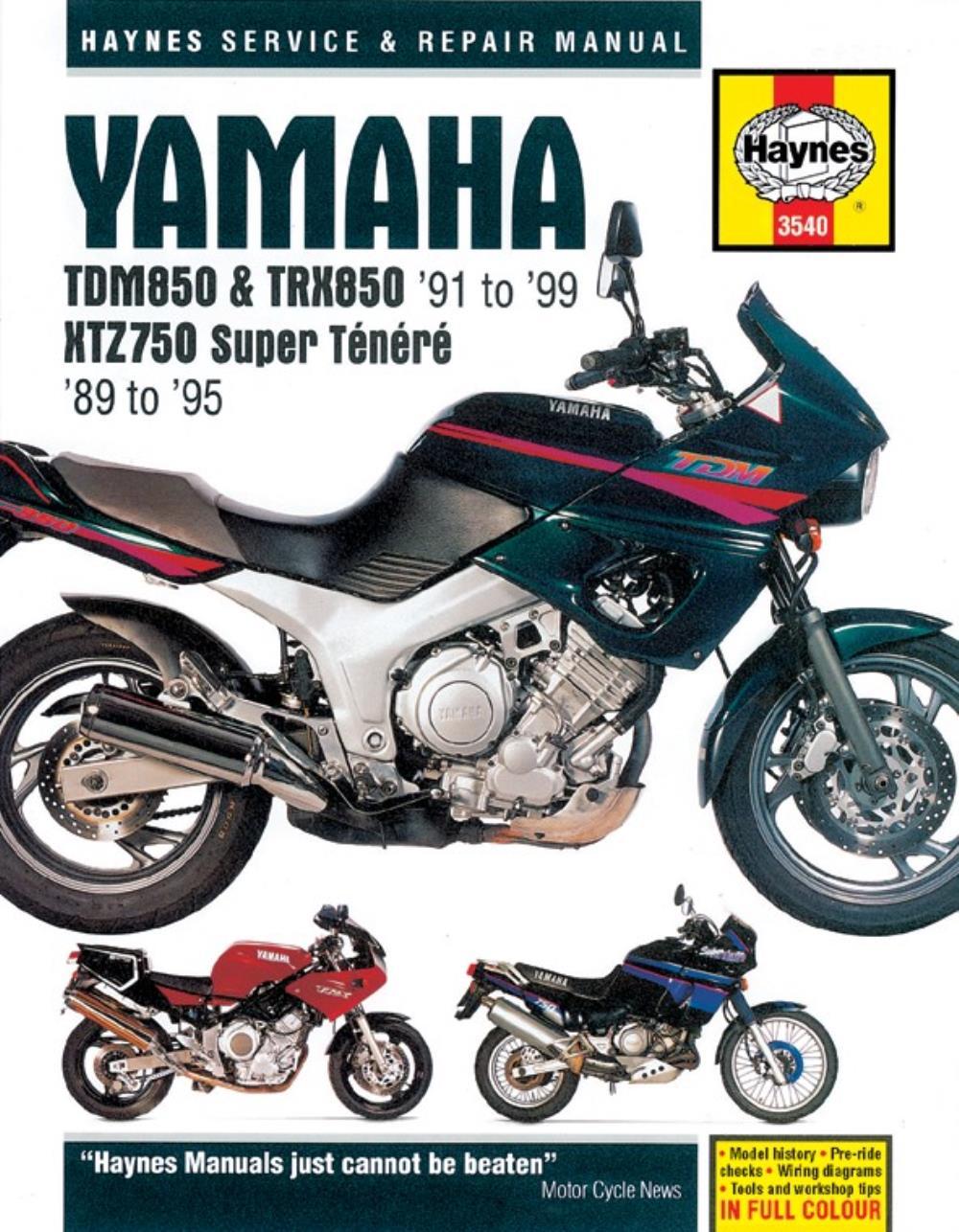 manual haynes for 2001 yamaha tdm 850 mark 2 4tx8 ebay rh ebay co uk New Yamaha Xmax Scooters Motorcycles Yamaha Scooter Service Manuals
