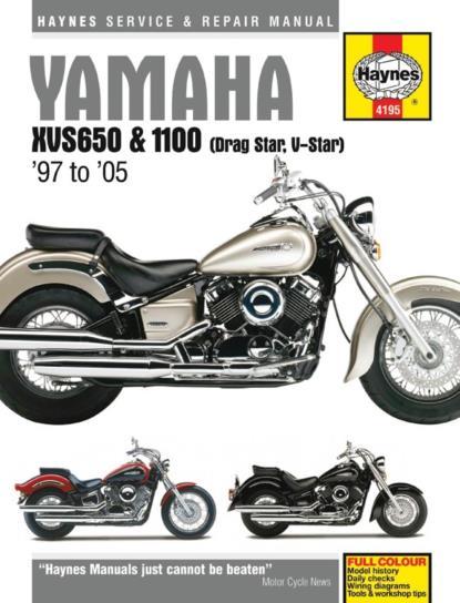 Picture of Haynes Manual  4195 Yamaha XVS650 & 1100 Drag Star, V-Star 97-11