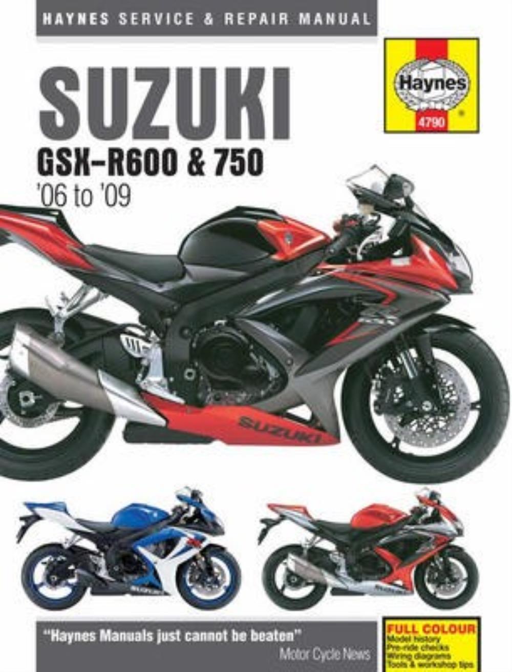 Manual Haynes for 2007 Suzuki GSX-R 750 K7 (L/C) (EFI). Description. Manual  Haynes for 2007 Suzuki GSX-R 750 ...