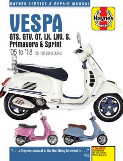 Picture of Haynes Manual 4898 Vespa GTS/GTV/GT/LX/LXV/S, Primavera & Sprint 05-18