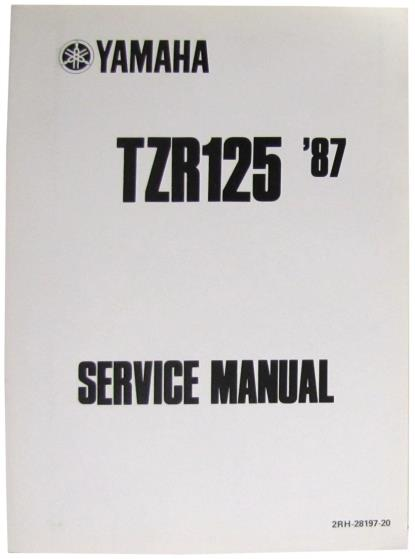 Picture of Workshop Manual Yamaha TZR125 1987-1992(O.E. Service Manual)