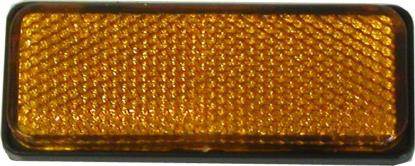 Picture of Reflector Amber Rectangle Bolt-on Black Rim 85mm x 30mm (Per 10)